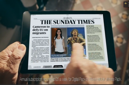 Sunday Times has UK's most popular digital newspaper edition - beating Mail and Mirror