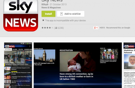 Android fastest-growing platform for Sky News as app downloads hit 10 million