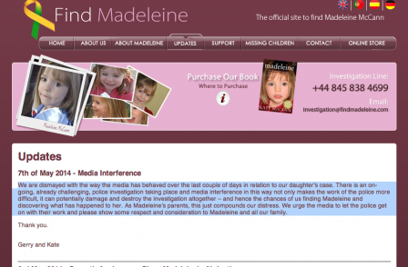 McCanns say they are 'dismayed' at 'media interference' in new Madeleine investigation
