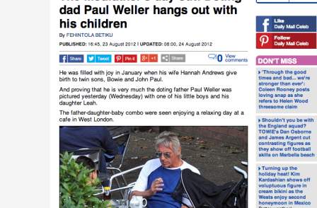 Paul Weller's wife calls for criminal offence to protect children from 'prying eyes of press'