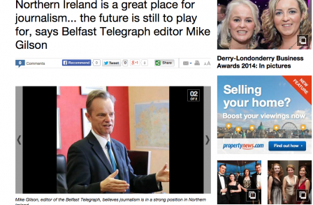 Mike Gilson on five years editing Belfast Telegraph: 'I don't spend a single minute thinking about other newspapers'