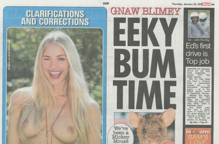 Page Three is back: The Sun confounds rest of media with surprise return