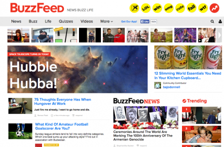 Buzzfeed investigation emails harm business of its 'main competitor in UK news market'