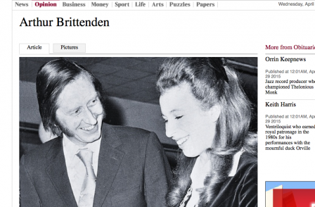 Former Daily Mail editor Arthur Brittenden: 'A towering figure on Fleet Street'