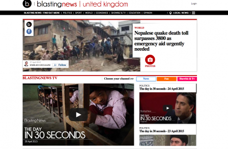 Citizen journalism website which pays every contributor attracts 10,000 UK 'Blasters'