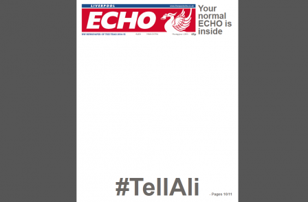 Liverpool Echo publishes blank front page and invites readers to fill it