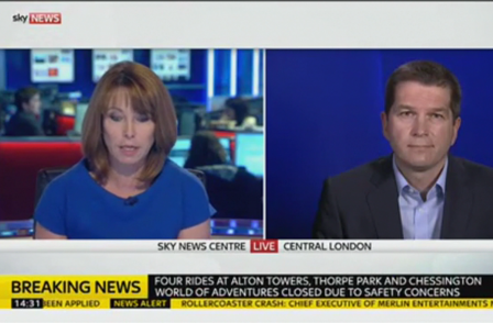 Sky's Kay Burley cleared by Ofcom over 'aggressive' interview with Alton Towers chief after rollercoaster crash