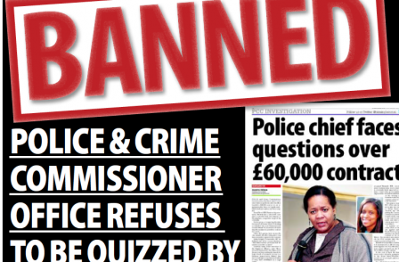 Award-winning investigative journalist 'banned' from putting questions to Birmingham crime commissioner