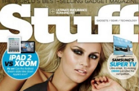 Stuff magazine drops pics of scantily-dressed women from the front page after research shows they harm sales