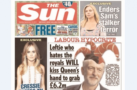 Sun faces questions over Corbyn 'Court Jezter' front page as Gallagher takes editor's chair