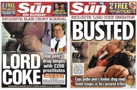 Lord filmed by Sun apparently snorting drugs off prostitute's breasts faces police inquiry