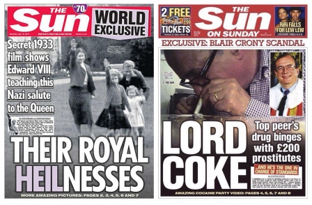 National newspaper ABCs: Queen and Lord Sewel help Sun to 'exceptional' July