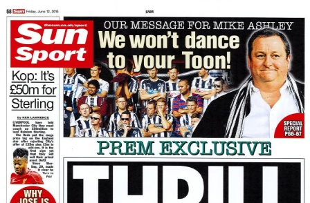 Sun was given special access to Newcastle United - but rejected commercial partnership offer