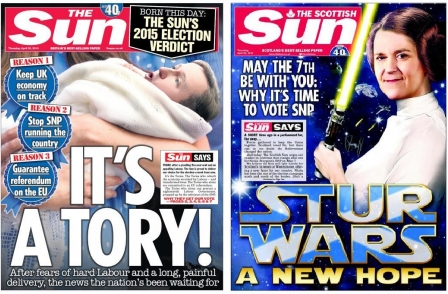 Sun backs Tories to avoid 'Labour/SNP nightmare'... Scottish Sun backs SNP to 'fight harder for Scotland's interests at Westminster'