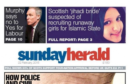 Sunday Herald's 35 per cent sales boost bucks trend for declining local weekly newspaper sales