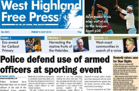 Two columnists out in freedom of speech row at West Highland Free Press
