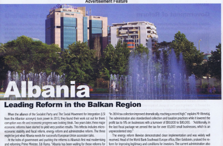 Albania: Leading economic reform (The Economist) or haven for terrorist drug gangs (Sunday People)?
