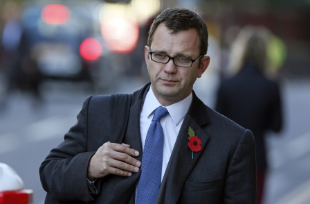 Andy Coulson arriving at court today