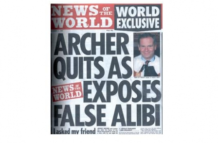 29. British journalism's greatest ever scoops: Archer Lied (News of the World, Neville Thurlbeck, Rob Kellaway, 1999)