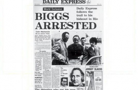 10. British journalism's greatest ever scoops: Biggs Arrested (The Daily Express, Colin Mackenzie, 1974)