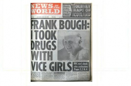 17. British journalism's greatest ever scoops: Frank Bough: I took drugs with vice girls (News of the World, Gerry Brown and Sandy Laming, 1988)