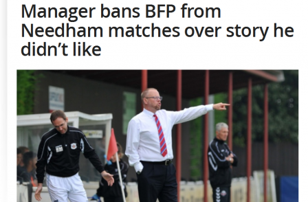 Bury Free Press banned by football club for reporting on departure of striker