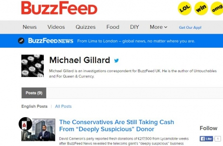 Former journalist of the year Michael Gillard departs after less than a year at Buzzfeed UK