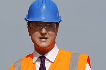 David Cameron snubs Huddersfield daily on 'carefully staged' visit to factory