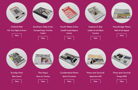 32 local newspaper campaigns which have made a difference over the last year