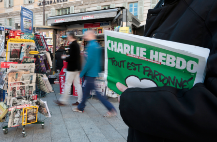 Wiltshire Police apologises after officer took names of those buying copy of Charlie Hebdo magazine