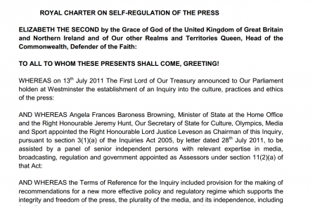 Publishers' legal challenge to Royal Charter on press regulation rejected by judge