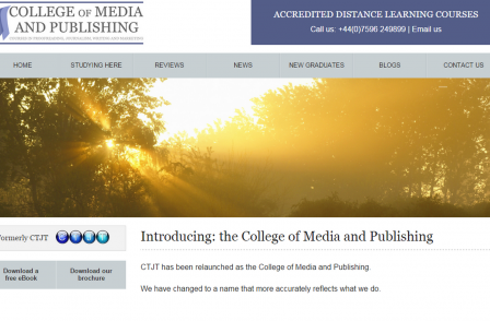CTJT becomes College of Media and Publishing in rebrand to reflect growing business (spons)