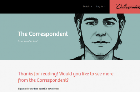 De Correspondent: Rethinking the philosophy of news to create a paid-for digital success story