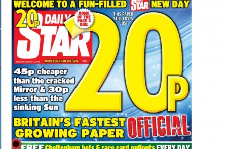 Redtop price rises: The Sun goes up to 50p and Daily Mirror to 65p while Star stays at 20p