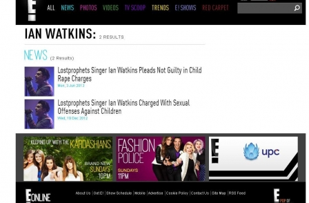 Website apologises after using wrong singer's image in Lostprophets paedophile story