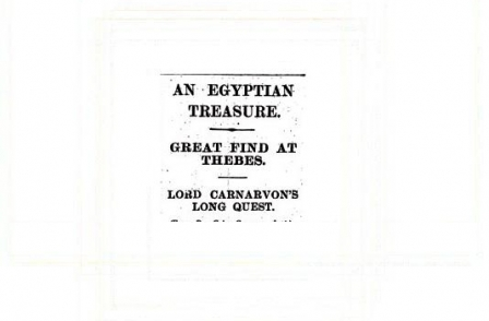 1. British journalism's greatest ever scoops: An Egyptian Treasure (The Times, 1922)