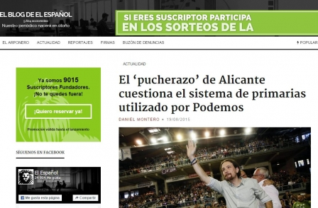 Former El Mundo editor to launch online paper in fight for press freedom in Spain