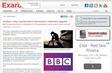After leading VIP paedophiles investigation, website Exaro itself faces media scrutiny and criticism