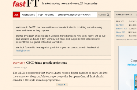 Financial Times launches real-time breaking news service pitched between Twitter and the main website