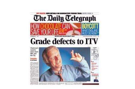 37. British journalism's greatest ever scoops: Michael Grade defects to ITV (Daily Telegraph, Jeff Randall, 2005)