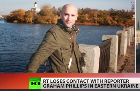 British freelance for Russia Today goes missing while covering fighting in Ukraine