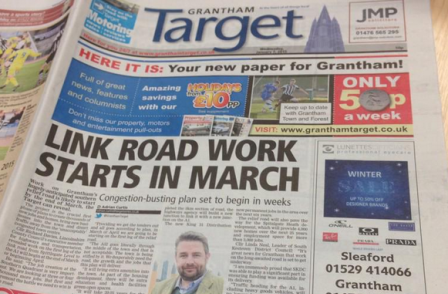 Editor of Grantham Target says there is room for two paid-for newspapers in Lincolnshire town