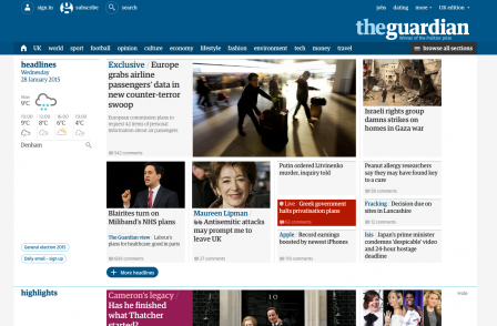 After 18 months of work and 130,000 pieces of feedback Guardian completes first website redesign since 2007