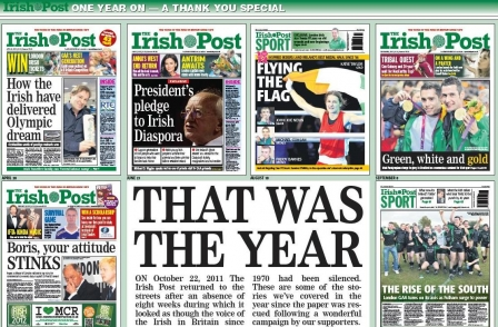 Irish Post celebrates anniversary relaunch with 'thank you' issue