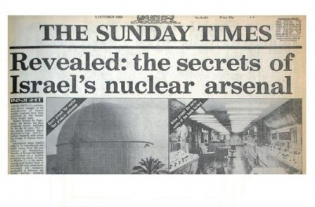 16. British journalism's greatest ever scoops: Revealed: the secrets of Israel's nuclear arsenal (The Sunday Times, 1986)