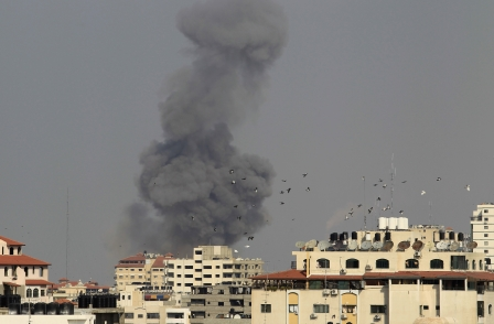 As Sky News building hit by Israeli missile - correspondent warns that no one in Gaza can feel safe