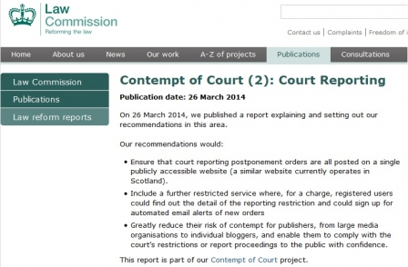Law Commission calls for reporting restrictions website with paid-for access