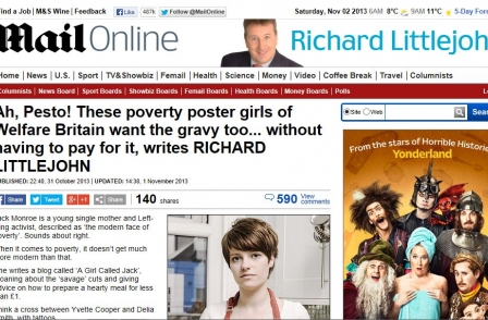 A Girl Called Jack has last word after Richard Littlejohn monstering 'just in case you wanted to polish that turd'