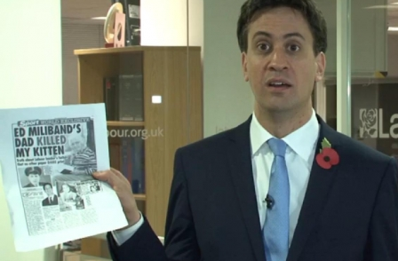 Ed Miliband responds to kitten killing slur