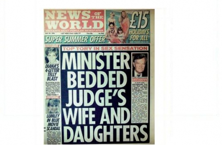 20. British journalism's greatest ever scoops: Minister bedded judge's wife and daughters (News of the World, Stuart White, 1994)